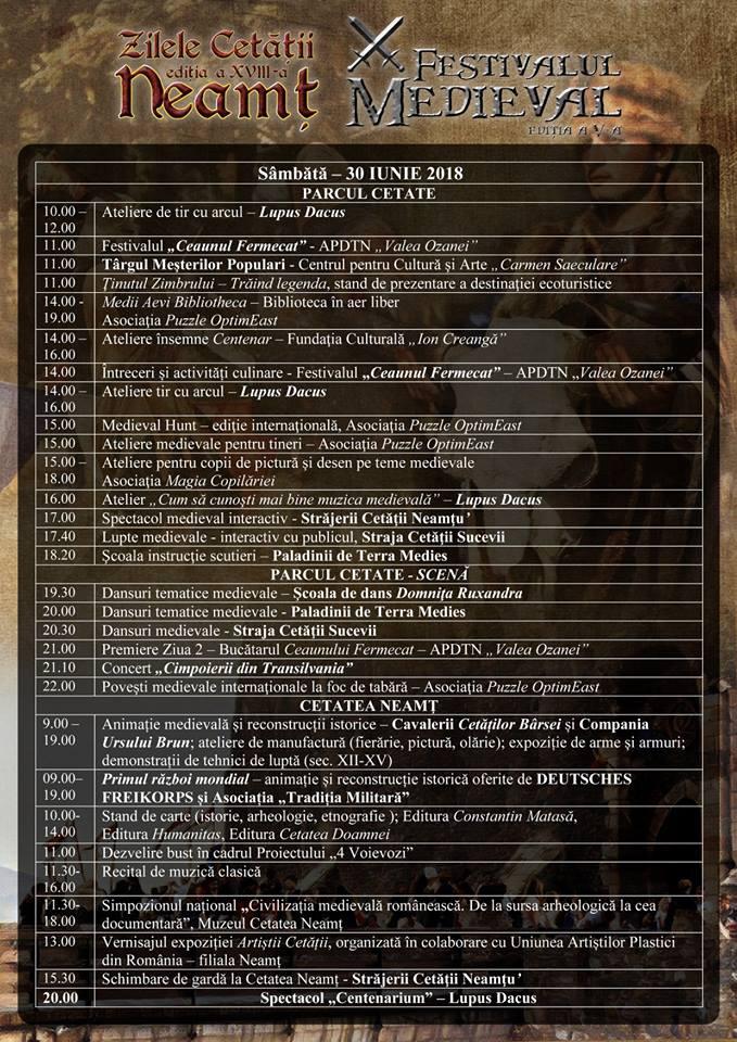 program sambata 30.06.2018