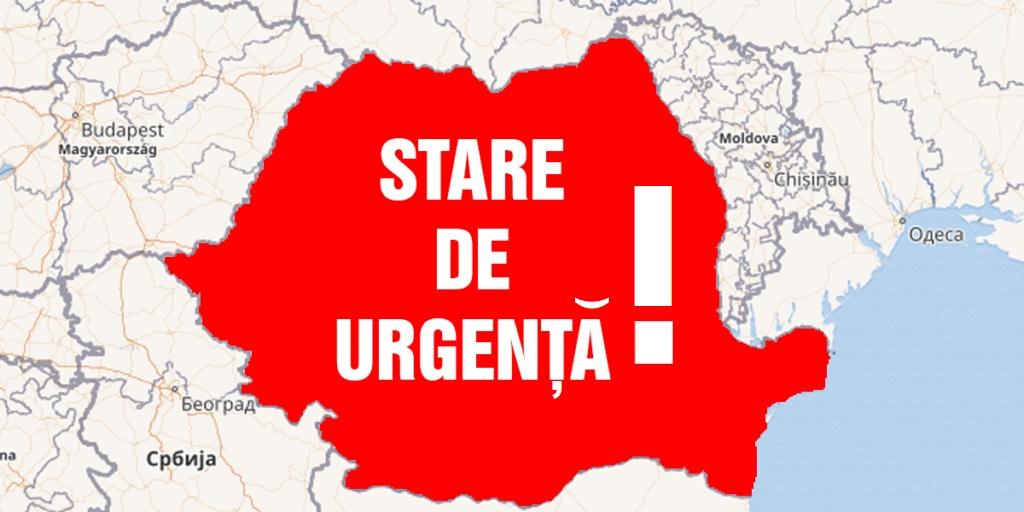 România intră în stare de urgență de la începutul săptămânii viitoare