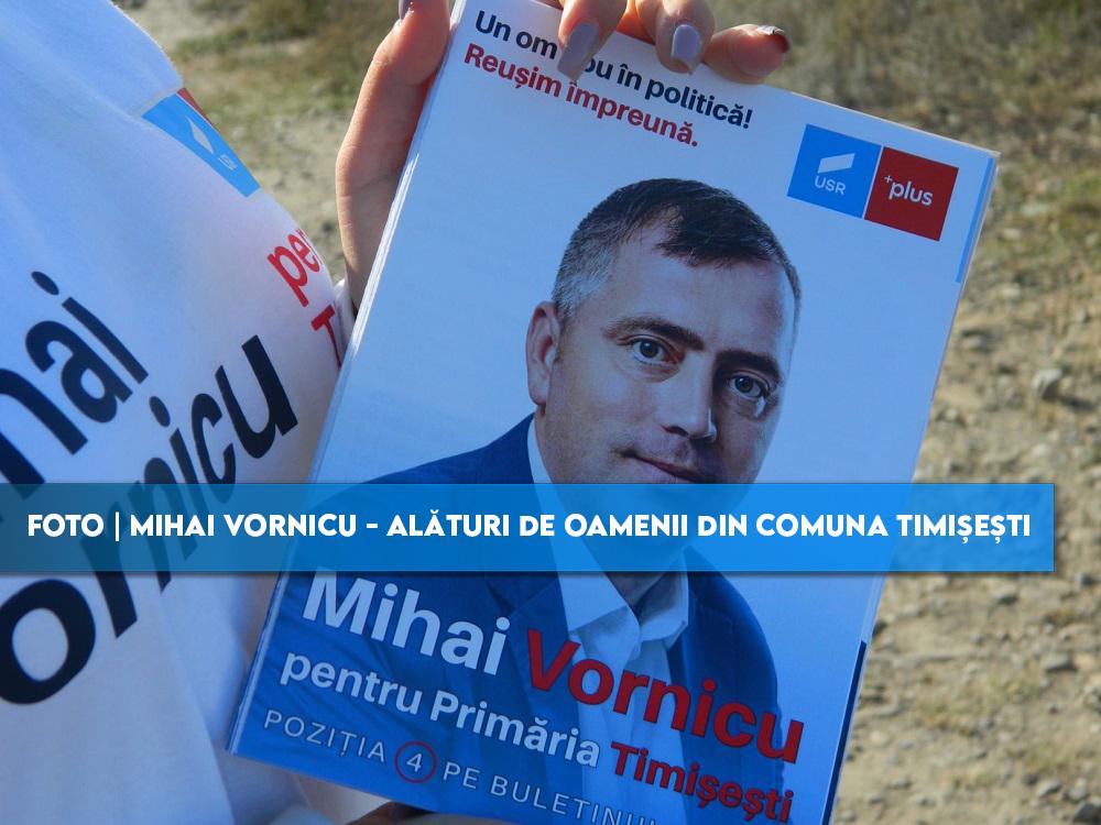 FOTO Mihai Vornicu – alături de oamenii din comuna Timișești